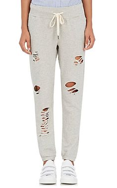 We Adore: The Sayde Cotton Distressed Sweatpants from NSF at Barneys New York