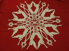 I have had a few people ask about patterns for snowflakes. I don't use a pattern, I draw each one out differently, but I scanned one before I cut it out. Here is the PDF file snowflake patte…