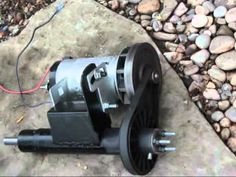 A few homemade wind turbines from treadmill, servo and other recycled motors generator pma windmill - YouTube