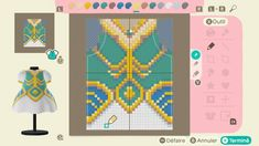 Animal Crossing Qr Codes Clothes, Animal Crossing Game, Motif Acnl, Happy Home Designer, Motifs Animal, Fantasy Comics, Animal Games, Galaxy Art, Grid Design
