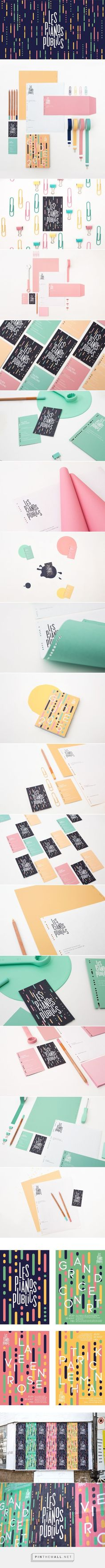 Les Pianos Publics Branding on Behance | Fivestar Branding. JUST GORGEOUS!