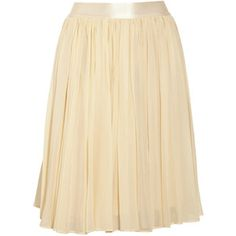 See by Chloé Cotton and silk-blend georgette skirt.  Love this.