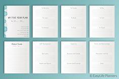 Five YEAR Plan 7x9 Printable @creativework247