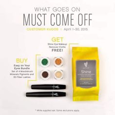 Order our new Easy On Your Eye Bundle today! It comes with 4 moodstruck mineral pigments our #1 selling 3d fiber mascara! And you also get makeup remover cloths for FREE! All for $74 don't wait an get yours today! Here's the link, www.youniqueproducts.com/HayleyAlexander