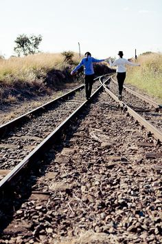Railway Tracks, Cullinan. This whole shoot by Jeanette Verster is stunning!
