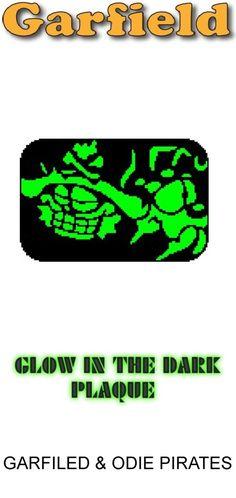Garfield & Odie Pirates Glow in Dark Window Plaque plastic canvas catalog item by Michael Kramer