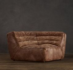 Chelsea Leather Round Corner Chair: O_o this is fantastic. Corner Couch, Round Corner, Restoration Hardware, Home Furnishings, Luxury Homes, Living Room, Interior, Leather, Furniture