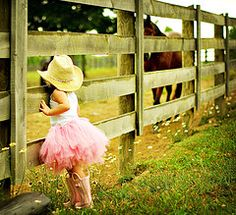 tutu on farm...totally describes my fashionista/cowgirl life! If I have a little girl, she will have a pic like this!