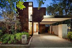Contemporary home in the Melbourne suburbs with a palette of natural colours and finishes