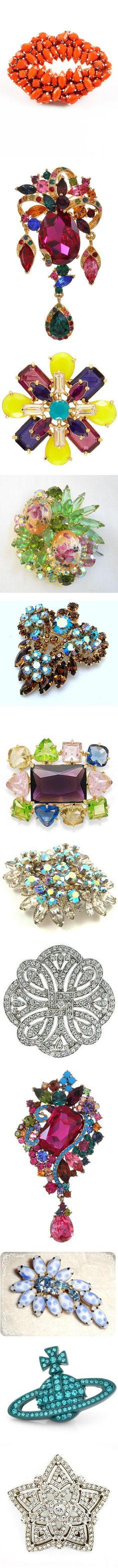 """Crystal Brooches Between $50- $100"" by dana-forlano on Polyvore"