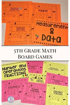 These board games are perfect for grade math centers. Use the activities in your upper elementary classroom to engage your grade students! Teaching 5th Grade, 5th Grade Math, Teaching Reading, Teaching Math, Teaching Resources, Teaching Ideas, Learning, Elementary Science, Upper Elementary