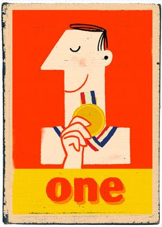 "Numbers #typography #graphicdesign ""Another One"" by Paul Thurlby"