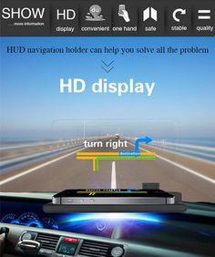 Universal Car GPS HUD Head Up Display Holder Navigation Image Reflector Mount