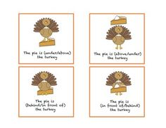 Free! Where is the pie? 20 basic concepts/prepositional phrases with these yummy thanksgiving-themed cards.