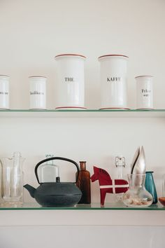 Danish The and Kaffe Jars - The White Room: Scandinavia in the Tropics at Eva & Col's Townsville House