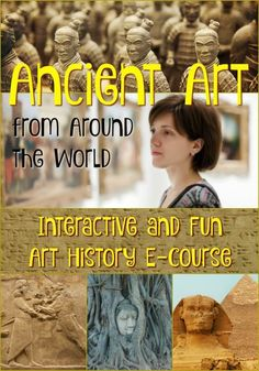 Ancient Art Around the World Online Course! Take an adventure back in time to study ancient art from around the world in this online course. Adults, teachers, and older students will have fun while learning. Enrollment ends on September so register today! Ancient Egypt For Kids, Ancient Art, Ancient History, Art Courses, Online Courses, History For Kids, Art History, High Art, Jr High