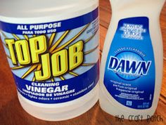 Tub Cleaner - mix up a solution of one part Dawn dish soap to one part vinegar, spray it on your tub About an hour later wipe it  down and rinse. You can use regular vinegar or cleaning vinegar (you can get it with the cleaning stuff at Walmart). Leave on overnight for really tough jobs.