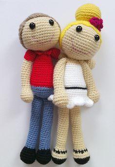 Handmade amigurumi crochet doll couple || pareja de muñecos de ganchillo