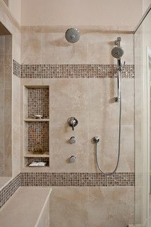 Genial Awesome Shower Tile Ideas Make Perfect Bathroom Designs Always : Beautiful Shower  Tile Ideas Glass Cover Shower Metalic Shower Shelves