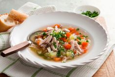 Traditional chicken soup is said to cure the common cold. This healthy recipe uses lots of different herbs and spices to enhance the flavour.