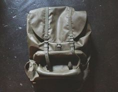 Vintage WWII Military Backpack Waterproof Large by RobinCottage, $128.00