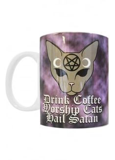 Extreme Largeness Coffee Cats Satan Mug. £7.99