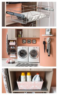 Design your laundry room to match your space and your needs. The totally customizable NeuSpace organization system helps to make washing, drying and ironing more enjoyable. Click through to the NeuSpace online design tool to see what we mean!