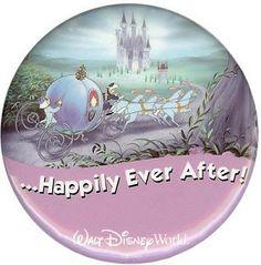 Disney Souvenir Button - Cinderella - ...Happily Ever After!