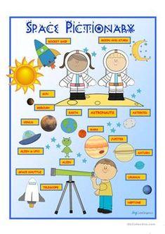 Space Pictionary Poster - ESL worksheets