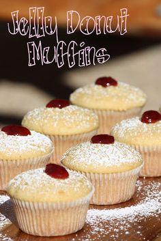 Jelly Donut Muffins.