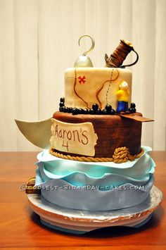 Walk the Plank Pirate Cake!... This website is the Pinterest of birthday cake ideas