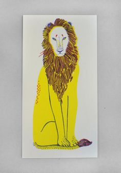 Lion riso by Hannah Waldron