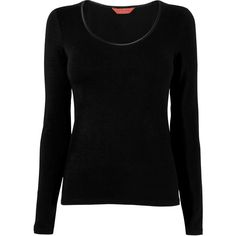 L.K. Bennett Rowena Jersey Long Sleeve Top ($87) ❤ liked on Polyvore