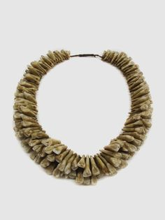 Human Tooth Necklace (Vuasagale), 18th – 19th Century, Fiji, Polynesia  203 human incisors and canines from 60 to 100 individuals