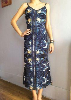 ba1bed25fdc Jean Paul Gaultier knit dress JPG wiggle dress vintage vintage Gaultier  Jean's knit midi dress angels slip dress spaghetti straps vtg JPG