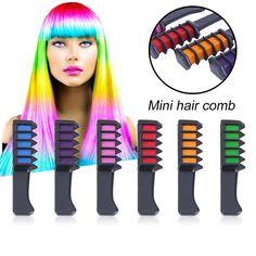 Mini Disposable Professional Crayons For Hair Color Chalk Hair Dyeing Tool Personal Salon Use Hair Dye Comb for Party Fans Cosplay Hair Dye Brush, Dyed Hair, Color Your Hair, Hair Dye Colors, Professional Hair Dye, Pelo Multicolor, Hair Color Cream, Temporary Hair Color, Hair Chalk