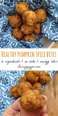 Healthy Pumpkin Spice Bites - a perfect snack for fall! | chicagojogger.com