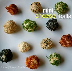 Mini cheese balls for appetizers.