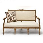 Gilded Settee, XIX C. from Etos