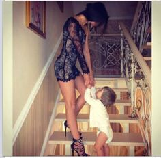 I'm going to be this kind of mom baby!!!! Shout out to all the sexy Moms out there, you don't have to loose your swag just cuz you had a kid.