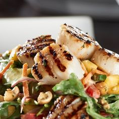 Zesty Grilled Scallops with a Mango