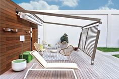 We will show you amazing modern pergola design ideas which complement the patio area and offer great functionality as they provide a shaded space for Garden Awning, Patio Gazebo, Pergola Canopy, Cheap Pergola, Pergola Shade, Diy Pergola, Pergola Ideas, Awning Patio, Patio Ideas