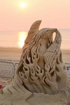 JPB:Phoenix Sculpture in Sunrise | Flickr - Photo Sharing!