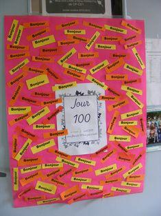panneau accueil 100 jours