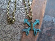 NEW! Crossed Arrow Necklace Just in time for Spring and Mother's Day!