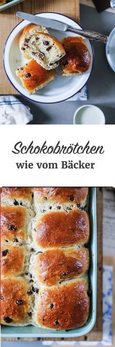 Schokobrötchen Rezept wie vom Bäcker aus Hefeteig von Zucker Zimt und Liebe Chocolate roll recipe as from the baker& yeast dough from sugar cinnamon and love. Chocolate Roll, Chocolate Recipes, Bakers Yeast, Rolls Recipe, Bread Baking, Baking Recipes, Bread Recipes, Cake Recipes, Sweet Recipes