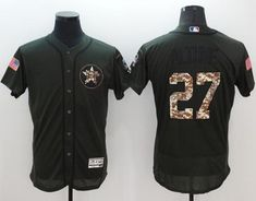 Astros #27 Jose Altuve Green Flexbase Authentic Collection Salute to Service Stitched MLB Jersey