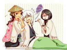 Kyoraku, Jushiro and Unohana haha its cute