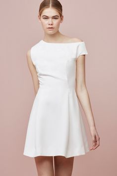 STOLEN DANCE MINI DRESS ivory