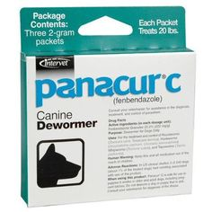 Panacur C - Dewormer for Dogs up to 20 lbs -- Want to know more, click on the affiliate link Amazon.com.